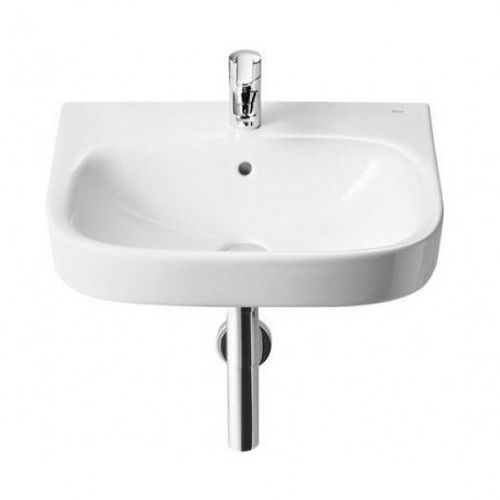 Roca Debba Wall Hung Basin - 600mm - 1 Tap Hole - White